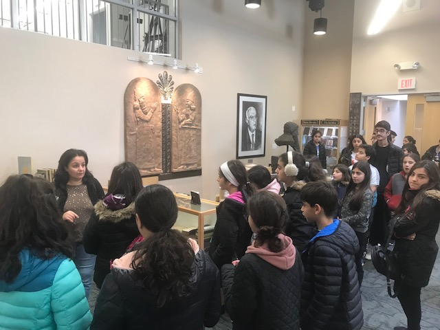 Pictures of St. Andrews Youth Group visiting A U A F library and offices
